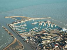 Veduta area del porto di Pescara