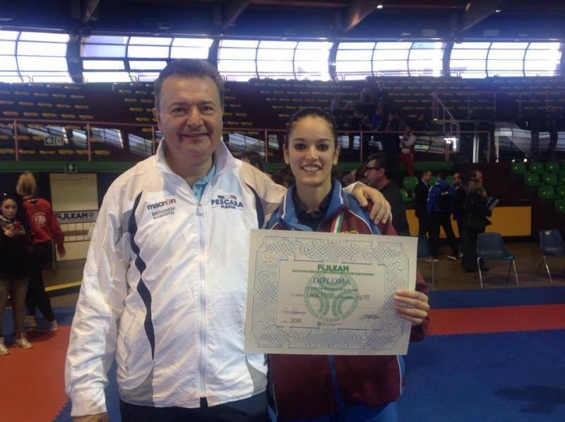 Sara Brogneri, vincitrice del campionato italiano di Karate