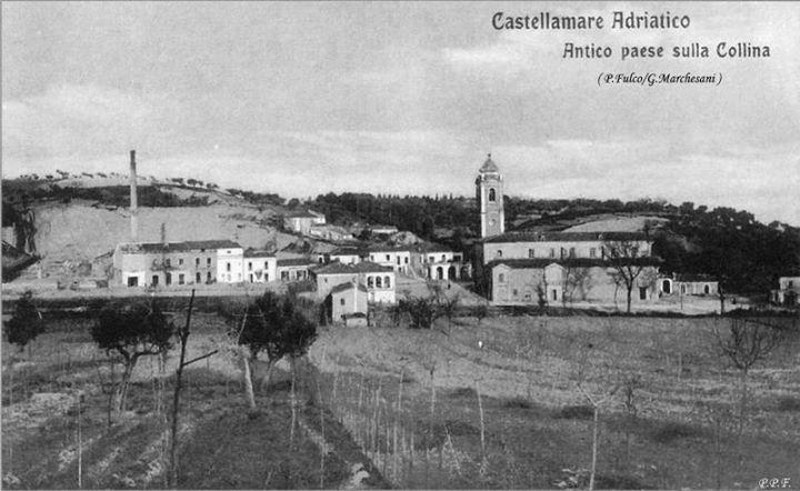L'antico borgo di Castellamare attorno alla chiesa della Madonna dei Sette Dolori. A sinistra la fornace di Evangelista-Bosco - P. Fulco