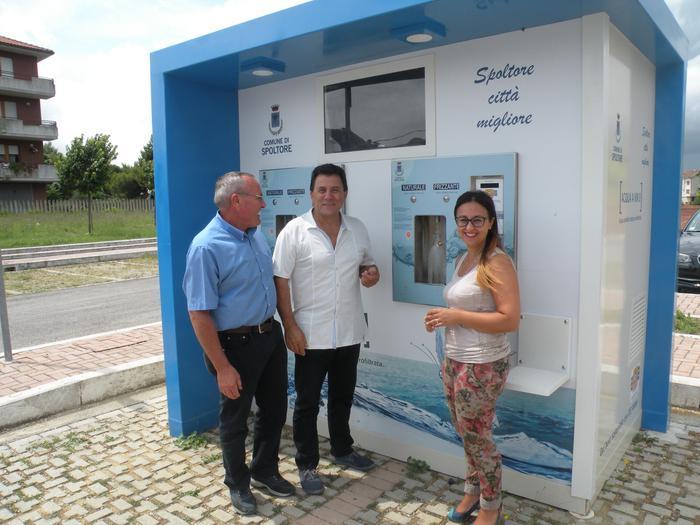 Spoltore: inaugurate due case dell'acqua Prezzo fissato 5 centesimi per litro