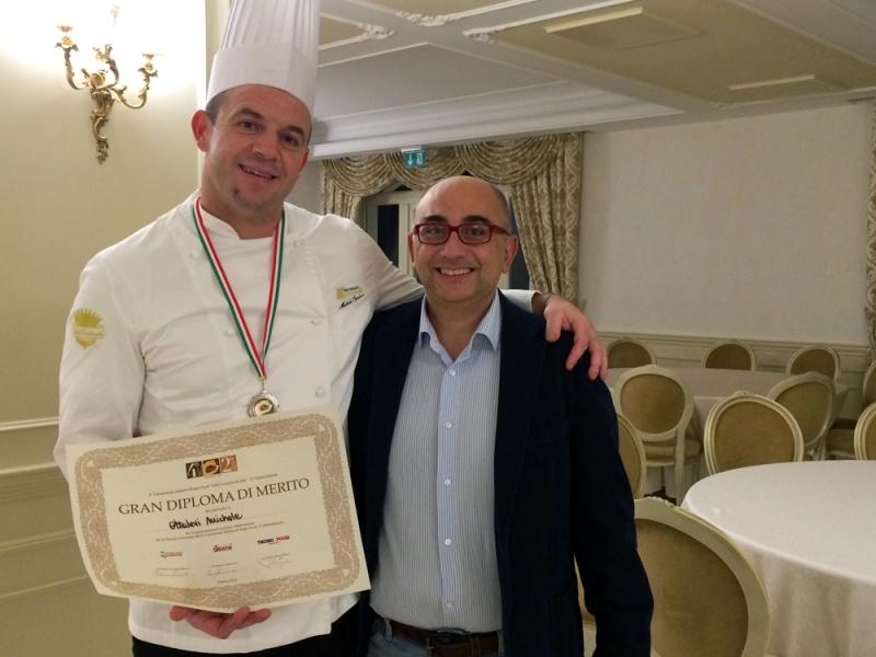 Michele Ottalevi e Cristiano Cabanelis, rispettivamente executive chef e direttore dell'hotel Villa Michelangelo