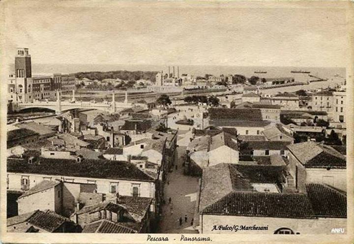 Panorama preso dal campanile di S. Cetteo del 1930 - A. Fulco