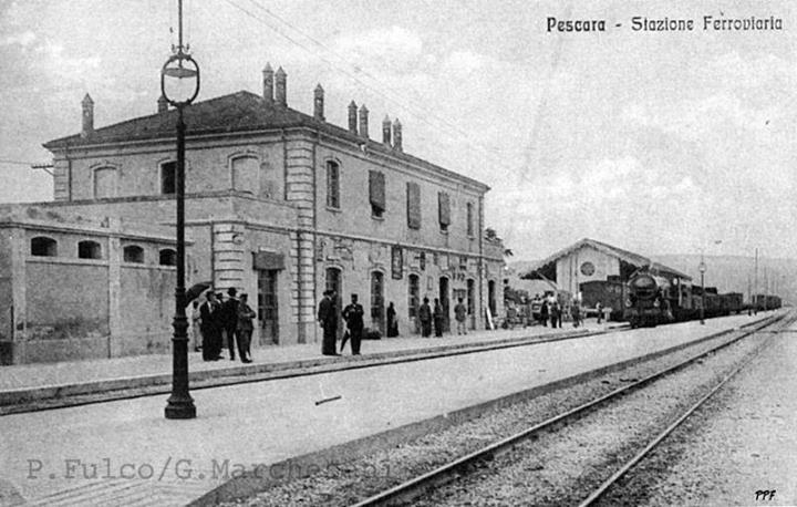 Stazione di Pescara Portanuova costruita negli anni 1881-83 - P. Fulco