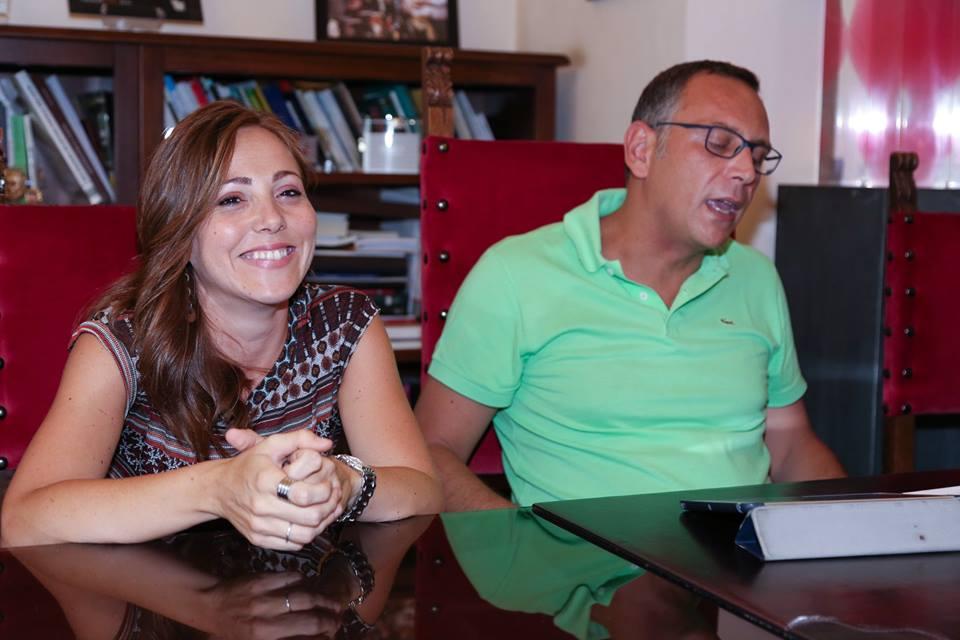 La neo-assessore e il sindaco Marco Alessandrini