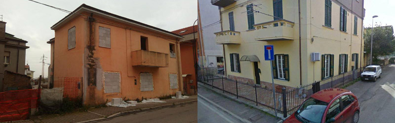 Immagini pubblicate dal Comune di Pescara