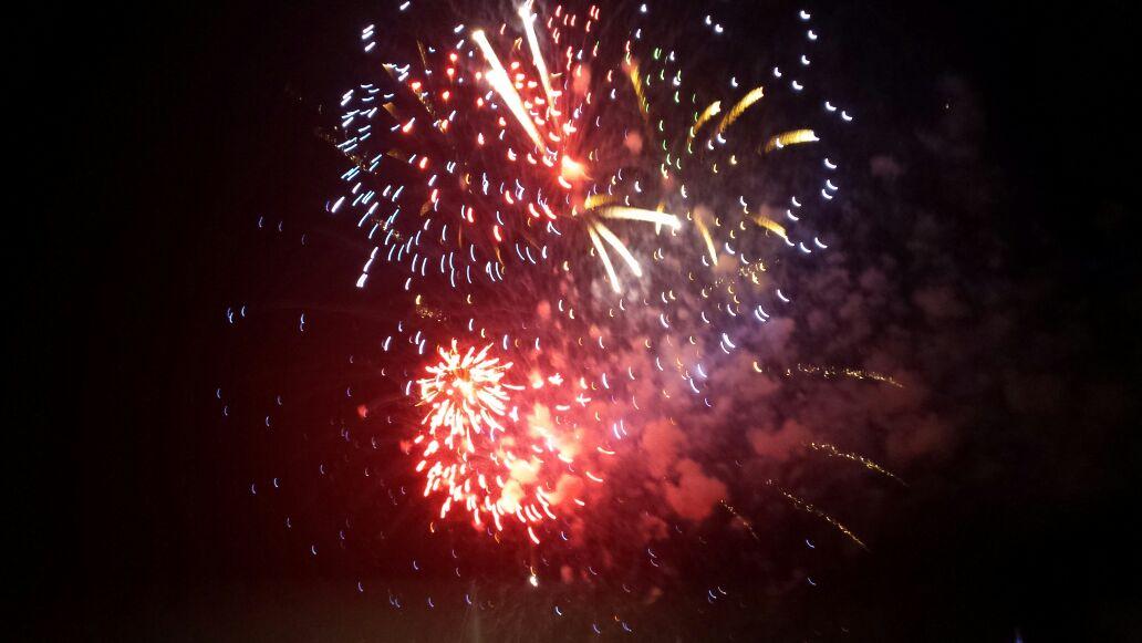 Lo spettacolo dei fuochi d'artificio, foto di Sara Gerardi