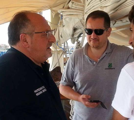 Sottosegretario Mario Mazzocca e il Presidente Legambiente Abruzzo Giuseppe Di Marco