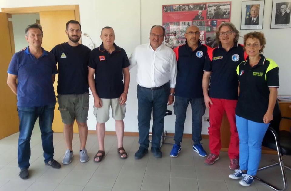 Sottosegretario Regionale Mazzocca (al centro) con i rappresentanti dell'A.Ge.Pro.
