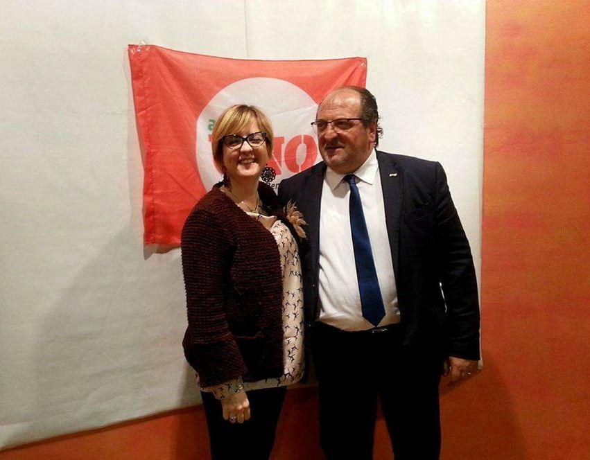 Mario Mazzocca (Capogruppo Art.1 Mdp Abruzzo e Sottosegretario alla Presidenza della Giunta Regionale) e Marinella Sclocco (Assessore Regionale con delega alle Politiche Sociali)