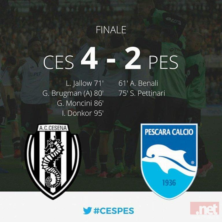 Cesena Pescara 4-2