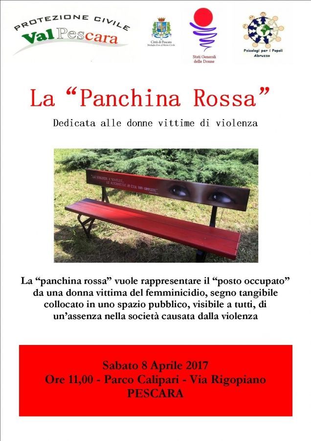 La Panchina Rossa Monito Contro La Violenza Verso Le Donne