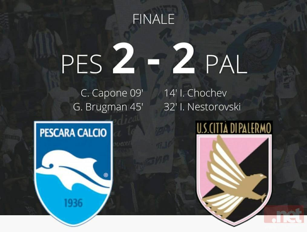 Pescara Palermo 2-2