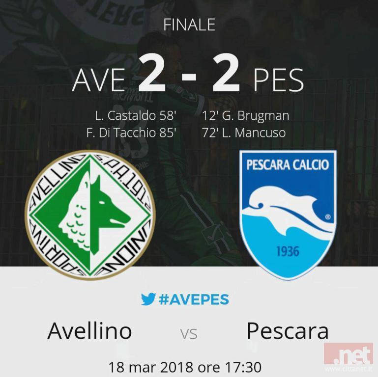 Avellino Pescara 2-2