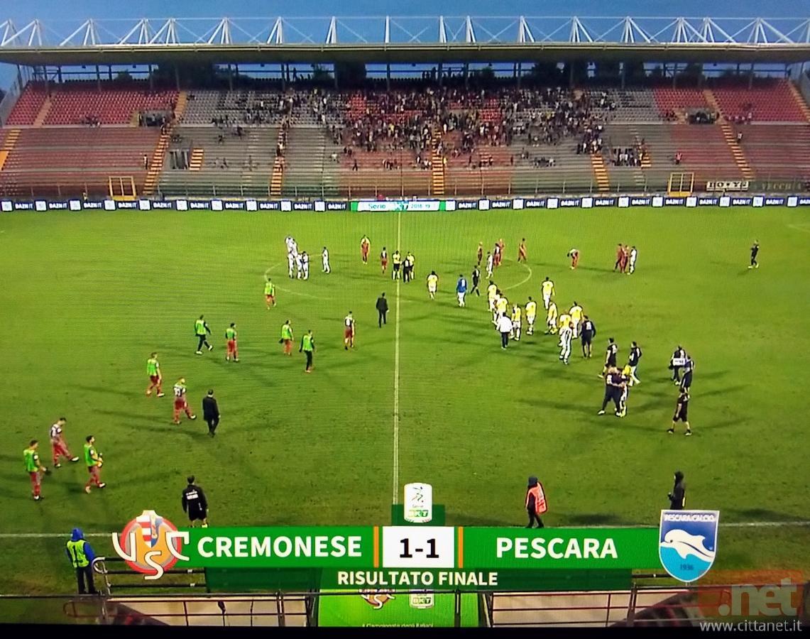 Cremonese Pescara 1-1