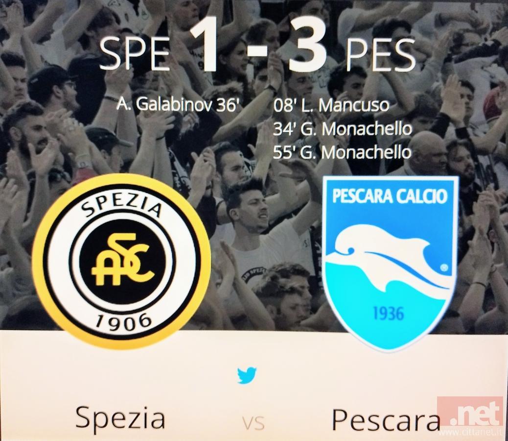 Spezia Pescara 1-3