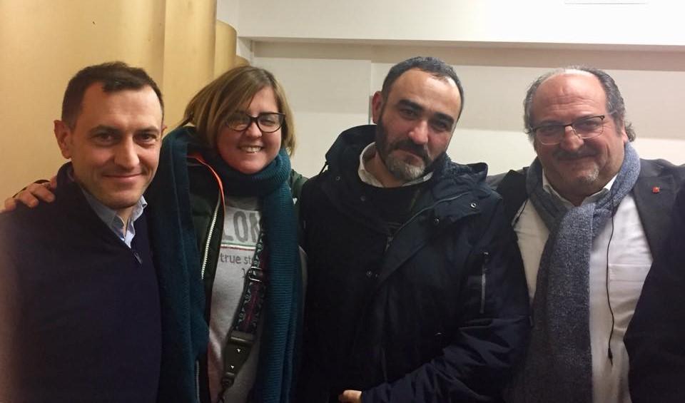 Da destra il Sottosegretario Mazzocca, il Coordinatore Ranieri, l'Assessore Sclocco e il Coordinatore Di Febo