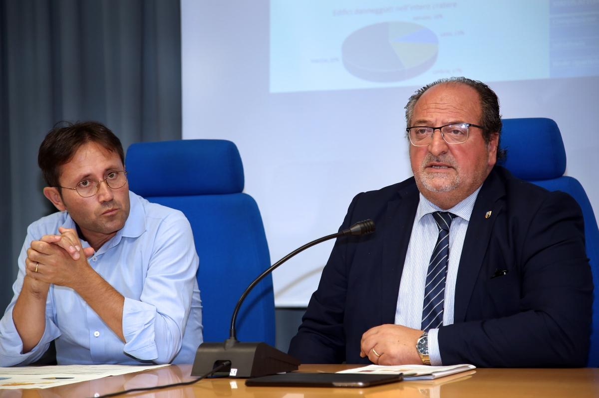 A destra il Sottosegretario d'Abruzzo Mazzocca