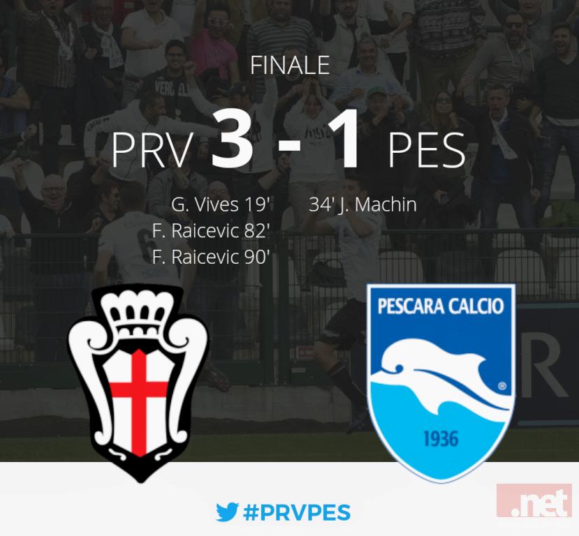 Pro Vercelli Pescara 3-1