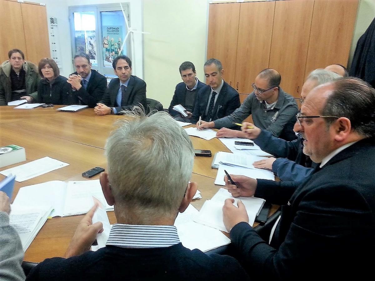 Il vertice rifiuti a Pescara con il Sottosegretario Mazzocca