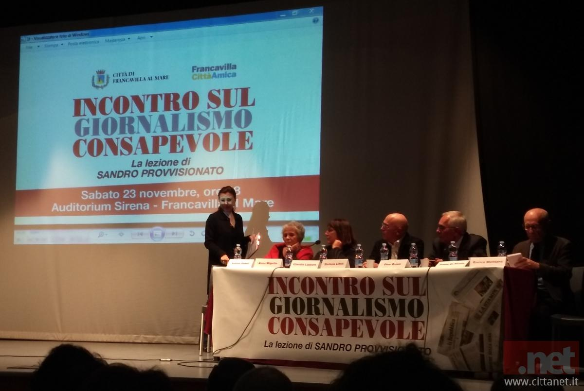 Incontro sul Giornalismo Consapevole la Lezione di Sandro Provvisionato