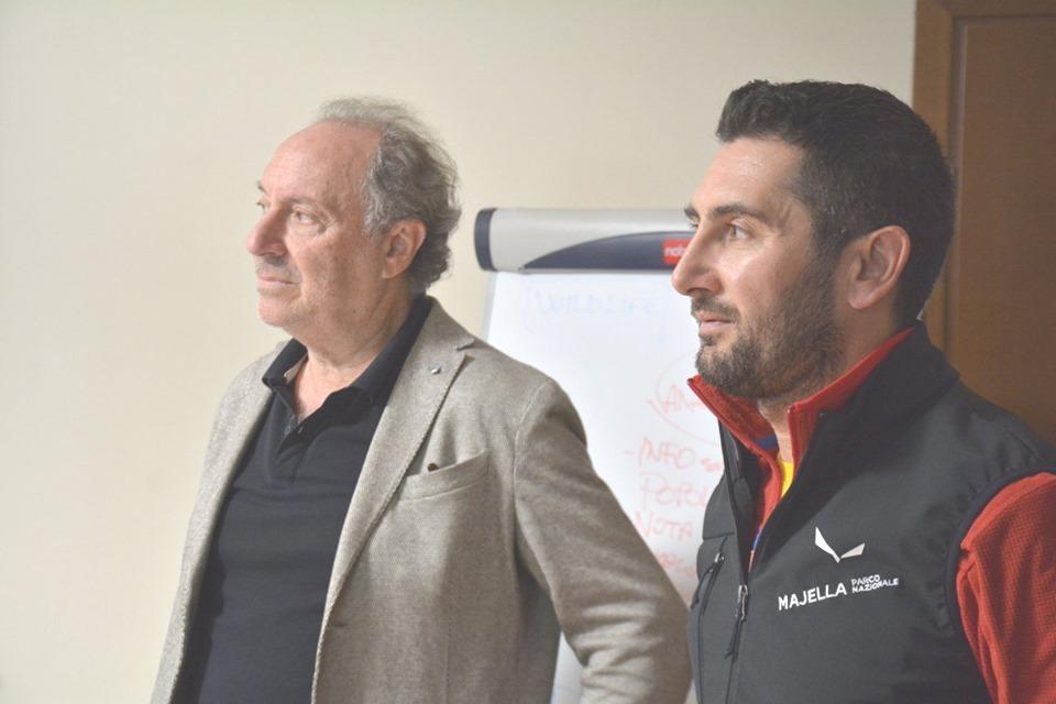 Ente Parco Majella. Da destra il Direttore Di Martino e il Presidente Zazzara