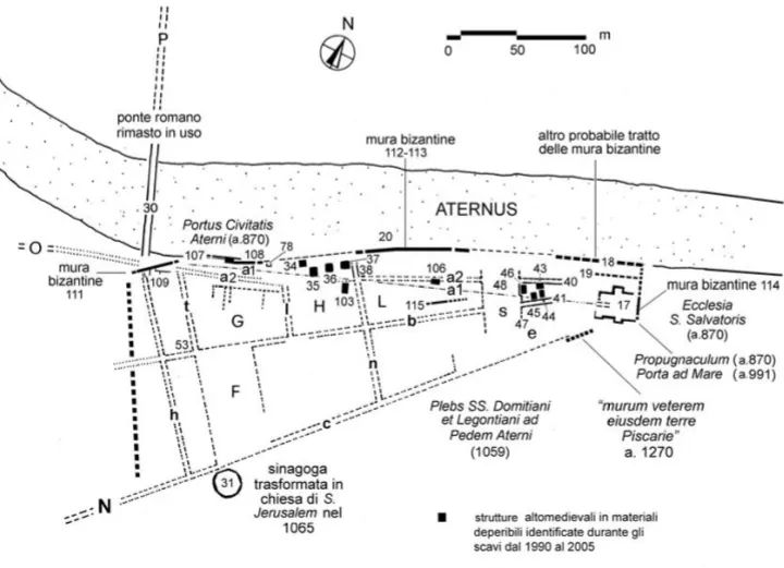 mappa della Pescara altomedievale